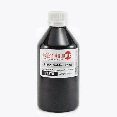 Tinta Sublimatica Inktec Preto Black Epson Sublimação 250ml