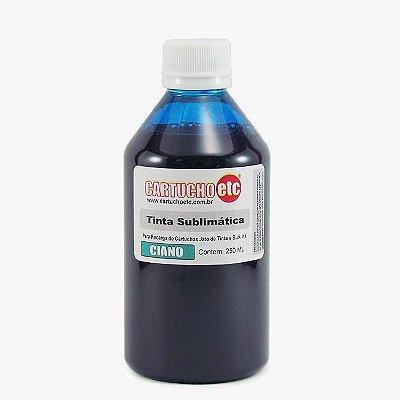 Tinta Sublimatica Inktec Azul Ciano Epson Sublimação 250ml