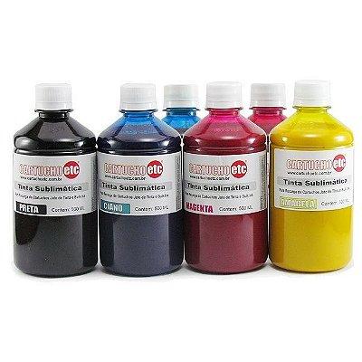 Kit 3 Litros de Tinta Sublimatica Inktec | Mizink Epson 500ml de Cada Cor | 6 Cores