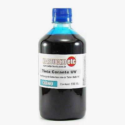 Tinta para Epson L110 L200 L355 L800 Ciano Azul Corante UV Importada 500ml