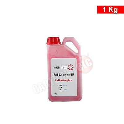 Refil de Toner Laser Colorida Hp Magenta CB543 CE323 CP1215 1 KG