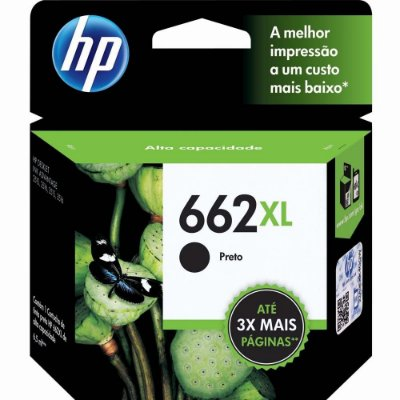 Cartucho HP 662XL Preto CZ105AB Original 2515 3515