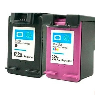 Kit Cartucho Hp 662XL Preto + 662XL Color 2515 3515 Compativeis