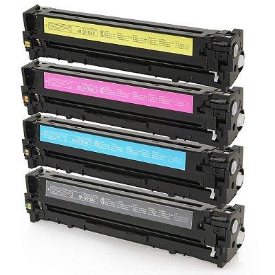 Kit 4 Toners Hp 131A M251 M276 Compativeis 1 de Cada Cor CF210 CF211 CF212 CF213