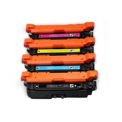Kit 4 Toners Hp 504A CM3530 CP3525 Compativeis 1 de Cada Cor CE250 CE251 CE252 CE253