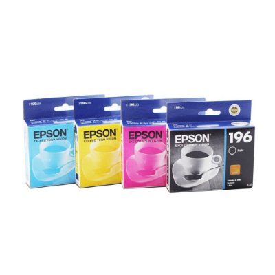 Kit 4 Cartuchos Epson 196 197 Compativeis XP101 XP201 XP401 XP2512