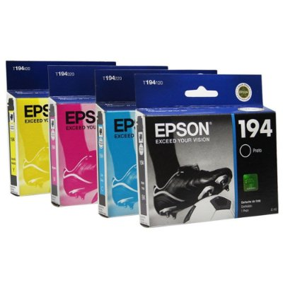 Kit 4 Cartuchos Epson 194 197 Compativeis XP104 XP204 XP214