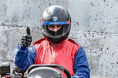 Adesivo Viseira Capacete - Oficial - Liga de Kart 44