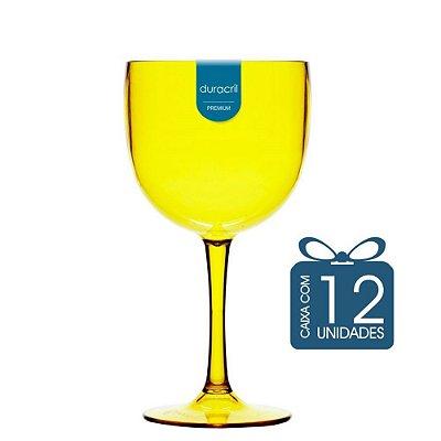 12 Taças de Gin 580 Ml Amarelo translúcida