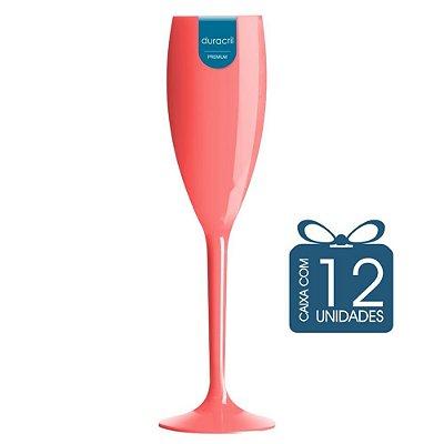 12 Taças Champagne 160 ml Coral