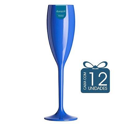 12 Taças Champagne 160 ml Azul