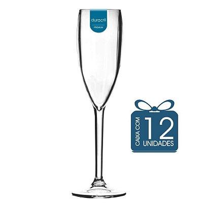 12 Taças Champagne 160 ml Transparente