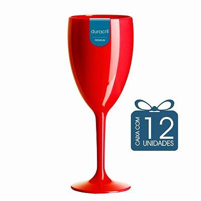 12 Taças Lolla 300 ml Vermelha