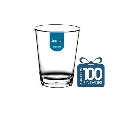 100 Copos Mini Caldereta 200 ml Transparente