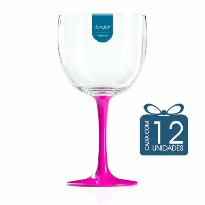 12 Taças de Gin Bicolor 580 Ml Pink