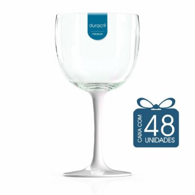 48 Taças de Gin Bicolor 580 Ml Branca