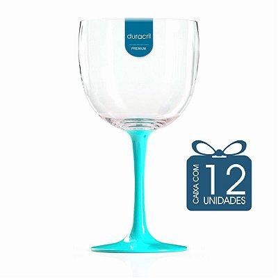 12 Taças de Gin Bicolor 580 Ml Tiffany