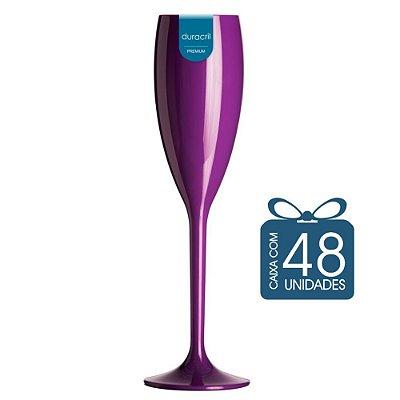 48 Taças Champagne 160 ml Roxa
