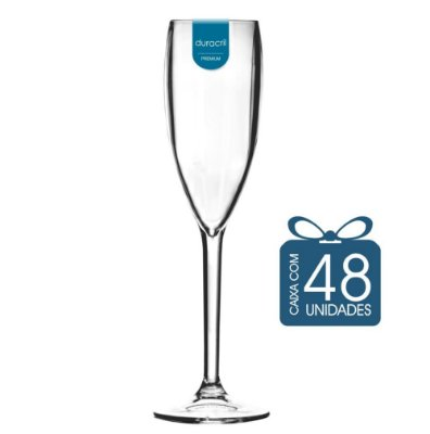 48 Taças Champagne 160 ml Transparente