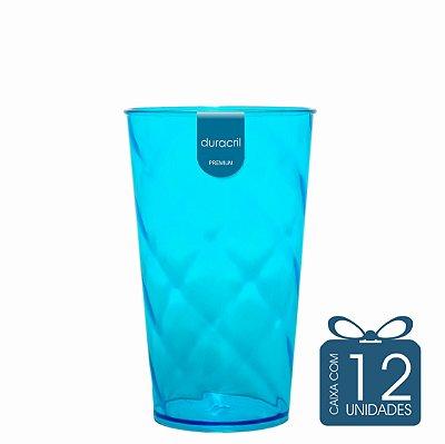 12 Copos Twister 500 ml Azul Claro translúcido