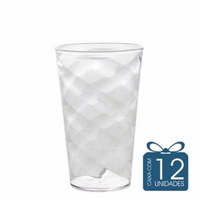 12 Copos Twister 500 ml Transparente