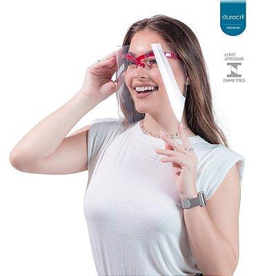 Máscara de Proteção Facial Vermelha