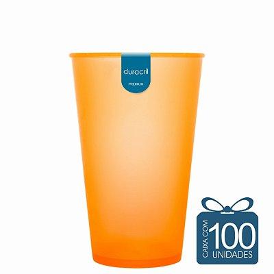 100 Copos Ecológico Biodegradável 550 ml Laranja