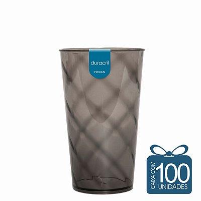 100 Copos Twister 500 ml Fumê