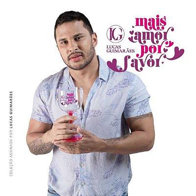 Taça de Gin Bicolor LUCAS GUIMARÃES Rosa Translúcido