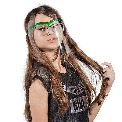 Máscara de Proteção Infantil Verde translúcido