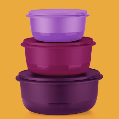 Tupperware® Kit 3 Tigelas Batedeiras G II