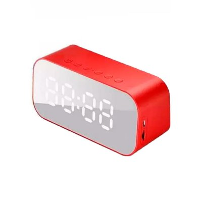 Caixa de Som DuraWell Bluetooth Speaker Rádio Relógio SPK-B015 Vermelho