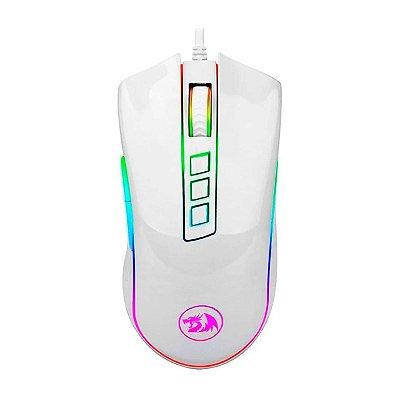 Mouse Gamer Redragon Solid Cobra M711W 7 Botões Branco