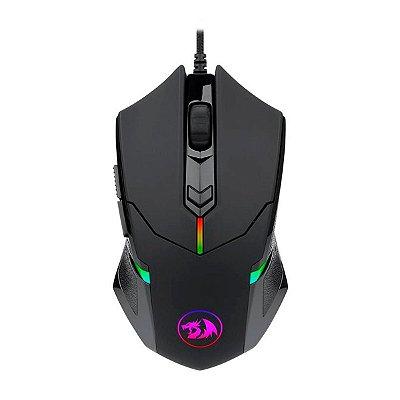 Mouse Gamer Redragon Solid Centrophorus 2 M601 RGB 7 Botões Preto