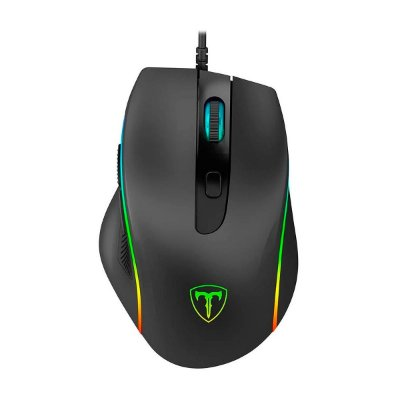 Mouse Gamer T-Dagger Solid Recruit 2 6 Botões USB RGB Preto