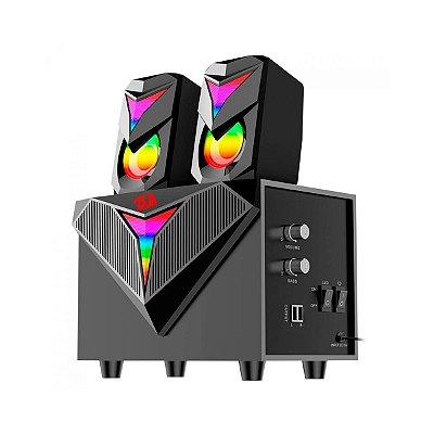 Caixa de Som Redragon Solid Toccata GS700 RGB - TV / Console / PC