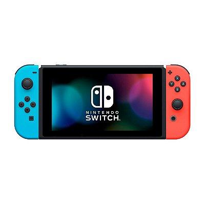 Console Nintendo Switch 32GB HAD V2 Azul e Vermelho-Nacional