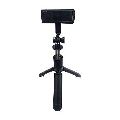 Bastão de Selfie Tripé S03 SPO 5178 Controle Bluetooth 70cm Preto