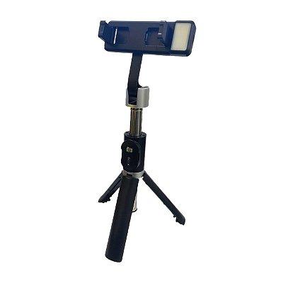 Bastão de Selfie Tripé Renux SPO 5213 Controle Bluetooth 1m Preto