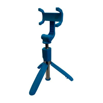 Bastão de Selfie Tripé Renux SPO 5137 Controle Bluetooth 70cm Azul