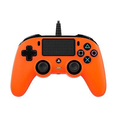 Controle Nacon Compact Controller Com Fio Laranja - PS4