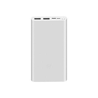 Carregador Portátil Xiaomi Mi 18W Fast Power Bank 3 10000 mAh Prata
