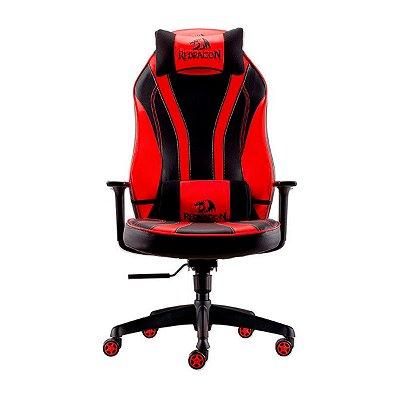 Cadeira Gamer Redragon Solid Metis Preta e Vermelha