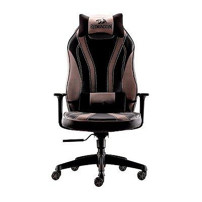 Cadeira Gamer Redragon Solid Metis Preta e Cinza