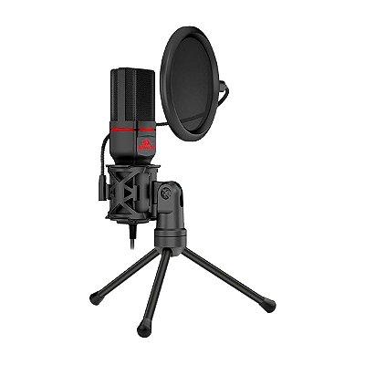 Microfone Redragon Solid Seyfert Preto - PC / Celular / Notebook