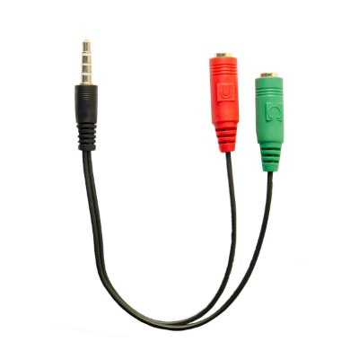 Adaptador 2 P2 Fêmea para 1 P2 Macho 3.5mm