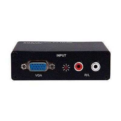 Adaptador VGA para HDMI com Audio HWH 2058