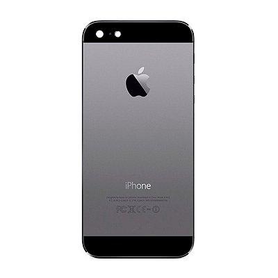 Pç Apple Tampa Traseira iPhone 5 Cinza Espacial com Estrutura