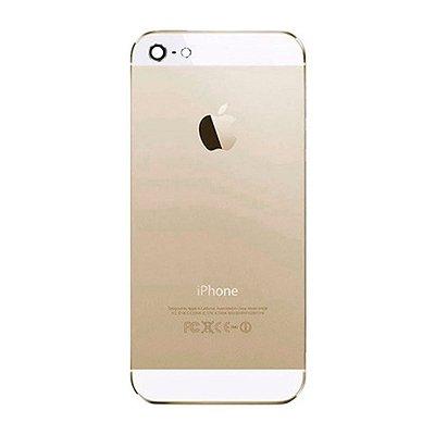 Pç Apple Tampa Traseira iPhone 5 Dourado com Estrutura