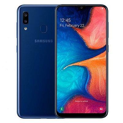 Smartphone Samsung Galaxy A20 32GB 3GB Azul Seminovo